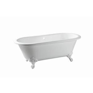 Warwick Freestanding Bath No Overflow 1700x775x630mm Pearl White incl Feet