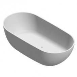Dubai Freestanding Bath No Overflow 1640x830x470mm Pearl White
