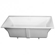 Charles 1700 Built-In Bath No Overflow 64kg 1700x800x500mm Gloss White