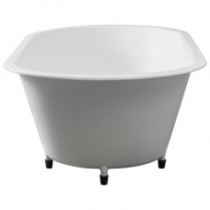 Conrad Built-In Bath No Overflow53kg 1800x910x55mm Pearl White