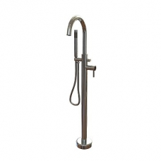 Aqualine Round Freestanding Bath Mixer Chrome Plated