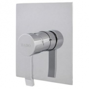 Aqualine Mono Single Lever Shower Mixer Square 160x140mm Chrome Plated