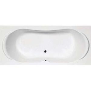 Nile Built-In Bath w/ Centre Drain 1800x800x400mm White