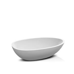 Elaine Countertop Basin 570x380x150mm Pearl White