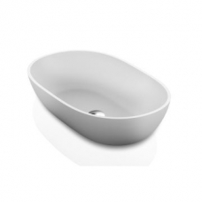 Dubai Countertop Basin 550x350x125mm Polished White
