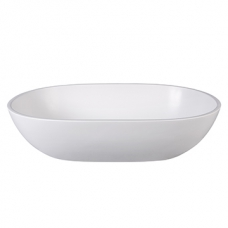 City Dubai Countertop Basin 125x350x550mm Pearl White