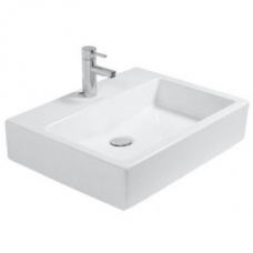 Vero Washbasin with 1 Tap Hole Ungrounded w/o Overflow 500x470mm White