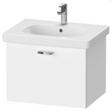 XBase Vanity Unit Wall-Mounted w/ 1 Pull-Out Compartmen 600 & Basin Matt White