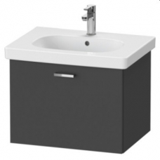 XBase Vanity Unit Wall-Mounted w/ 1 Pull-Out Compartment 600 & Basin Graphite Matt