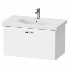XBase Vanity Unit Wall-Mounted w/ 1 Pull-Out Compartment 800 & Basin Matt White