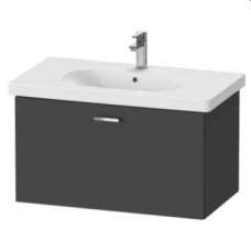 XBase Vanity Unit Wall-Mounted w/ 1 Pull-Out Compartment 800 & Basin Graphite Matt