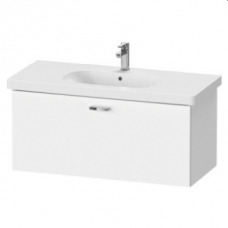 XBase Vanity Unit Wall-Mounted w/ 1 Pull-Out Compartment 1000 & Basin White Matt