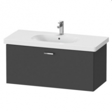 XBase Vanity Unit Wall-Mounted w/ 1 Pull-Out Compartment 1000 & Basin Graphite Matt