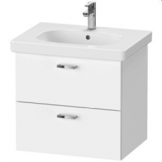 XBase Vanity Unit Wall-Mounted w/ 2 Drawers 600 & Basin Matt White