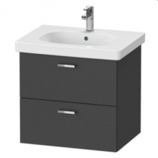 XBase Vanity Unit Wall-Mounted w/ 2 Drawers 600 & Basin Graphite Matt