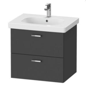 XBase Vanity Unit Wall-Mounted w/ 2 Drawers 600 & Basin Graphite Matt