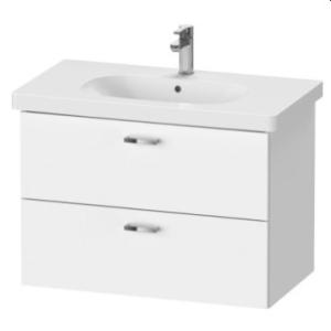 XBase Vanity Unit Wall-Mounted w/ 2 Drawers 800 & Basin White Matt