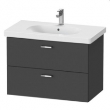 XBase Vanity Unit Wall-Mounted w/ 2 Drawers 800 & Basin Graphite Matt