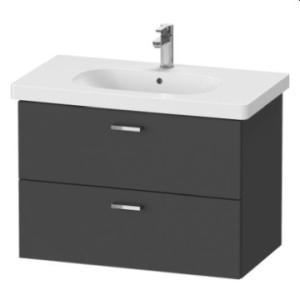 XBase Vanity Unit Wall-Mounted w/ 2 Drawers 800 & Basin Graphite Matt