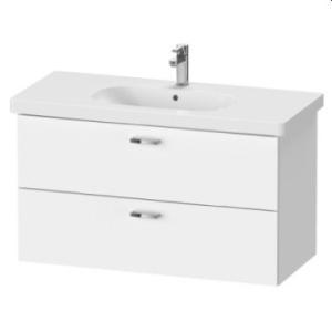 XBase Vanity Unit Wall-Mounted w/ 2 Drawers 1000 & Basin White Matt