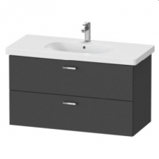 XBase Vanity Unit Wall-Mounted w/ 2 Drawers 1000 & Basin Graphite Matt