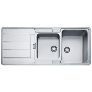 Franke  Hydros HDX624 Sink Dbl Bowl 1160x510x180/160mm SS