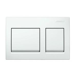Geberit Alpha15 Actuator Plate for D/F White Alpine
