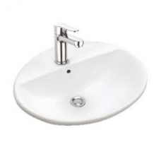 Geberit Abalona Drop-In Basin with Centre Tap Hole 550mm x 450mm White