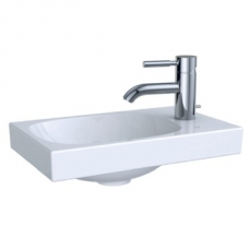 Geberit Acanto Handrinse Basin Right Tap Hole w/o Overflow 400x115mm White
