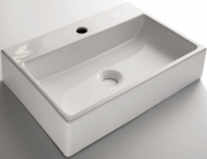 Bina Wall-Hung/Countertop Basin 1TH Rectangular Larger White - Gio
