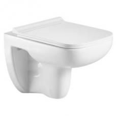 Lido Wal-Hung Pan Rimless S/C Seat & Quick Release White - Gio