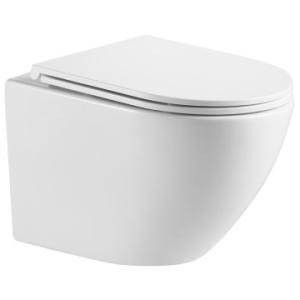 Alvito Rimless Wall Hung Pan Soft Close Seat & Quick Release White - Gio