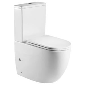 Alvito Close Couple Suite Rimless S/C Seat & Quick Release White - Gio