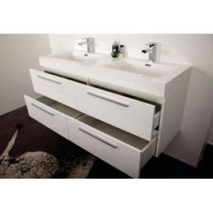 Gio Bathroom Vanity 1380mm White - Gio