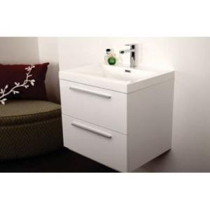 Gio Bathroom Vanity 600mm Double Drawer White - Gio