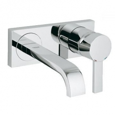 Grohe Allure 2-Hole Basin Mixer S-Size Wall-Mounted Chrome