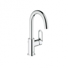 Grohe BauLoop Single Lever Basin Mixer with Side Handle Chrome