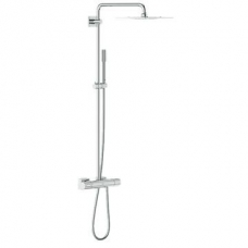 Grohe Rainshower F-Series Shower System w/ Thermostat Chrome