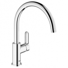 Grohe BauEdge Single Lever Sink Mixer Chrome