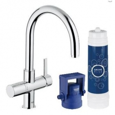 Grohe Blue Ultra Safe Pure Starter Kit C-Spout Chrome