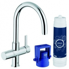 Grohe Blue Sink Mixer Single Lever Ultra Safe with Filter Function Chrome