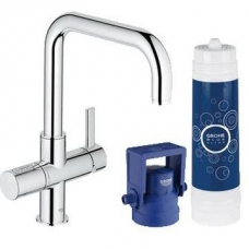 Grohe Blue Ultra Safe Pure Starter Kit U-Spout Chrome