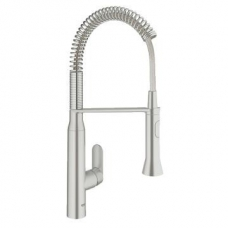 Grohe K7 Single Lever Sink Mixer Low Version Super Steel