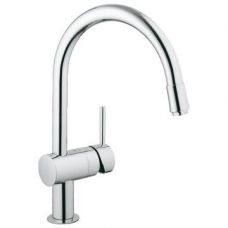 Grohe Minta Single Lever Sink Mixer w/ Pull -Out Mousseur (Aerator) Chrome