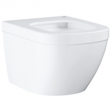 Grohe Euro Ceramic Wall-Hung Rimless Pan w/ Horizontal Outlet White