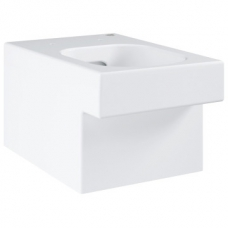 Grohe Cube Ceramic Wall-Hung Rimless Pan w/ Horizontal Outlet White