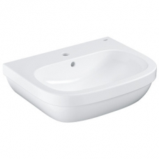 Grohe Euro Ceramic Wall-Hung Basin w/ Overflow 600x480mm White