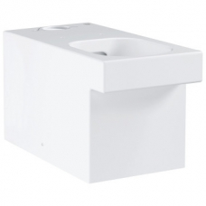 Grohe Cube Ceramic Close-Coupled Rimless Toilet w/ Universal Trap White