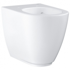 Grohe Essence Ceramic Back-To-Wall Rimless Pan w/ Universal Trap & PureGuard White