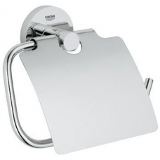 Grohe Essentials Toilet Paper Holder with Cover Chrome